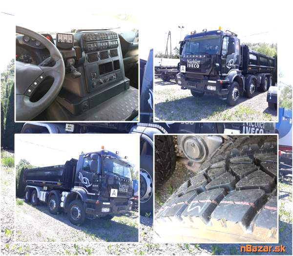 Vyklápac IVECO 410EH 8x4 500 PS 2008 bordmatic Meiller